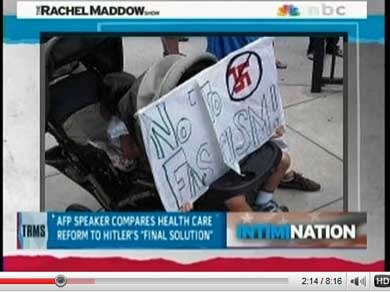 Teabagger compares health-care reform to Nazism