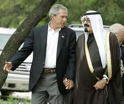 Bush and Abdullah