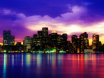Skyline on Posted By Thelonggoodbye January 2 2010 Boston Skyline Wallpaper