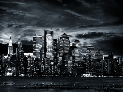 wallpaper city black and white. Black and White City by the