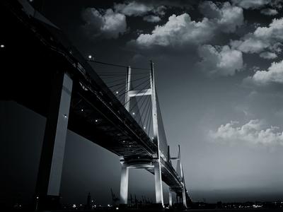 bridge city skyline