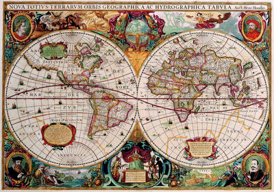 map of the world in 17th century