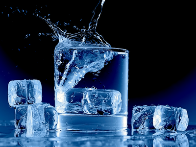 summer wallpaper, ice cubes, democratic blue