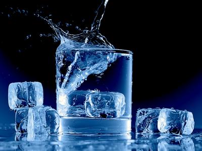 summer wallpaper, ice cubes, democratic blue