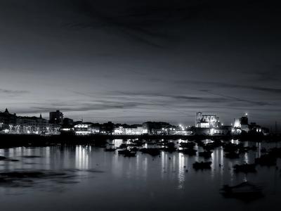 bay lights, harbor at night