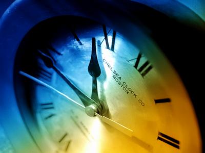 time. dual gradient, clock,