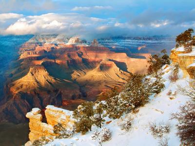 winter, American landscape, snow