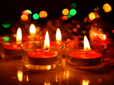 candles, flame, warm colors