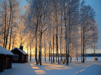 snow, landscape, America