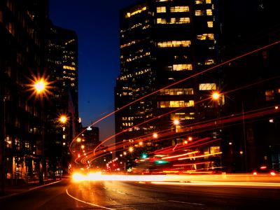 city lights, city at night, urban cityscape