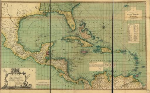 antique map west indies