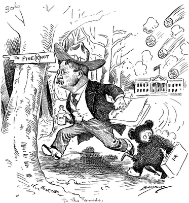President Theodore Roosevelt and the Teddy Bear character