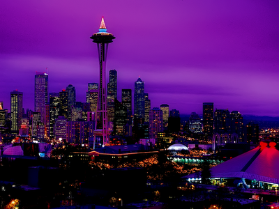 Seattle night skyline wallpaper republicans immigration and hypocrisy the long goodbye - Skyline night wallpaper ...