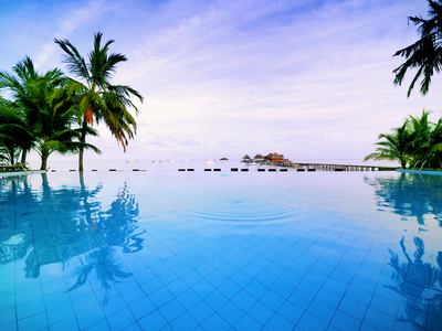 pool, Pacific Ocean, Maldive Islands