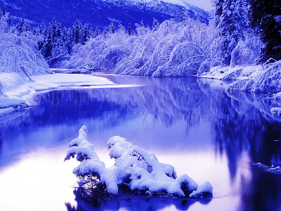 Winter at Eagle River wallpaper