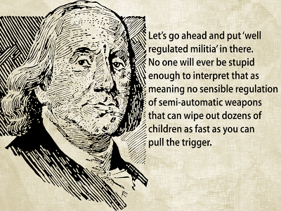 Ben Franklin and gun control