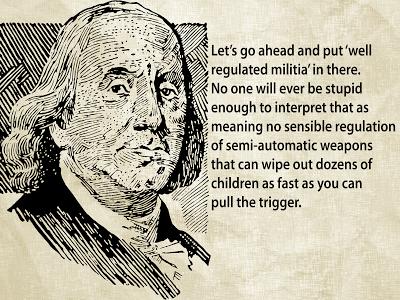 Ben Franklin and gun control