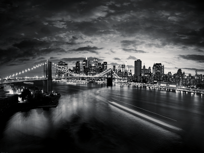 Black and White New York Panorama wallpaper