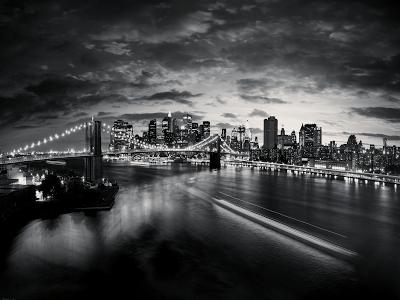 Black and White New York Panorama wallpaper