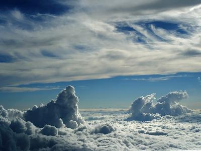 Blue Cloudscape wallpaper