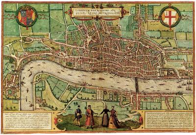 London Street Map of 1548