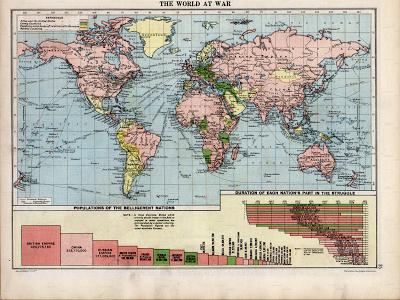 Map The World At War 1920