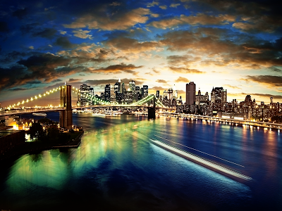 New York Panorama wallpaper