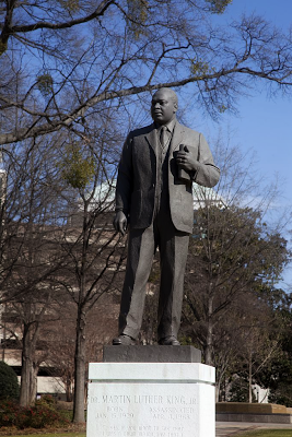 Statue of Dr Martin Luther King Jr in the Kelly Ingram Park, Birmingham, Alabama