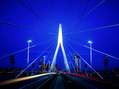 Suspension Bridge at Night wallpaper