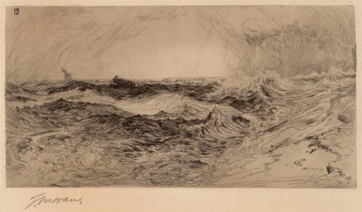 The Resounding Sea, 1886 by Thomas Moran