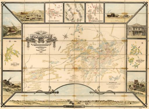 Tombstone Arizona Mines Map1881