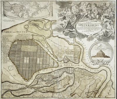 Map of St Petersburg 1724