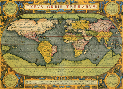 Antique World Map 1587 – The Conservative National Association of