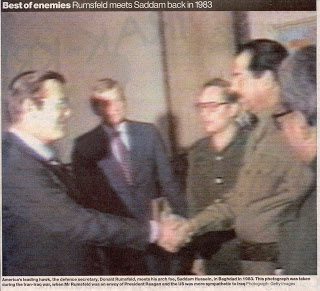 Shaking Hands with Saddam Hussein
